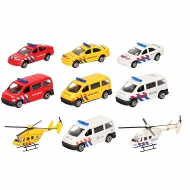 112 diensten wagens uitgebreide speelgoed set 10-delig die-cast