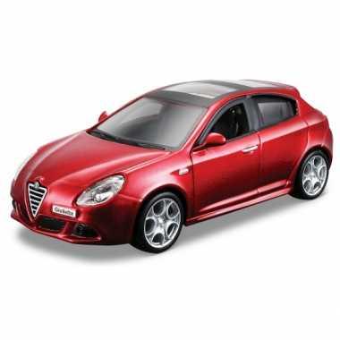 Modelauto alfa romeo giulietta rood metallic 1:32