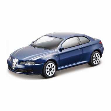 Modelauto alfa romeo gt blauw schaal 1:43/10 x 4 x 3 cm