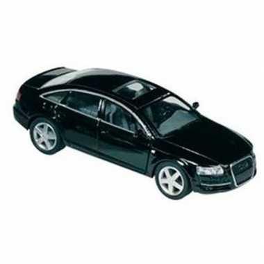 Modelauto audi a6 zwart 1:38
