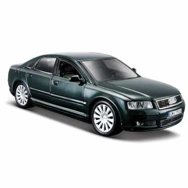 Modelauto audi a8 donkergroen schaal 1:24/21 x 8 x 6 cm