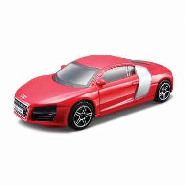 Modelauto audi r8 2009 rood schaal 1:43/10 x 4 x 3 cm