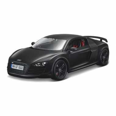 Modelauto audi r8 gt zwart schaal 1:18/24 x 10 x 7 cm