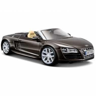 Modelauto audi r8 spyder bruin schaal 1:24/18 x 8 x 5 cm