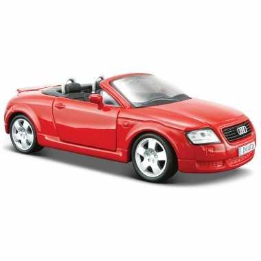 Modelauto audi tt rood schaal 1:24/17 x 7 x 6 cm