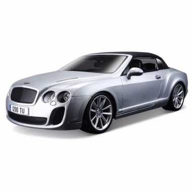 Modelauto bentley continental 1:18 zilver