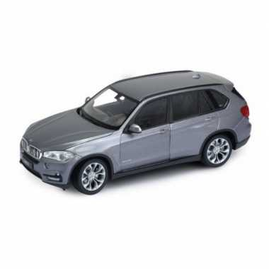 Modelauto bmw x5 2015 grijs schaal 1:24/20 x 8 x 7 cm