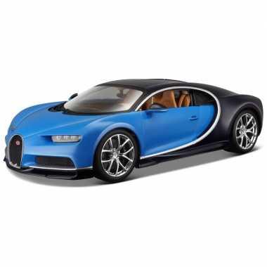 Modelauto bugatti chiron 1:24 blauw