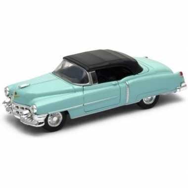 Modelauto cadillac eldorado groen gesloten cabrio 1953 1:34