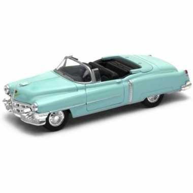 Modelauto cadillac eldorado groen open cabrio 1953 1:34