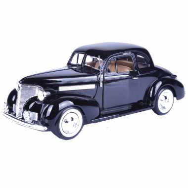 Modelauto chevrolet 1939 coupe zwart schaal 1:24/19 x 7 x 6 cm