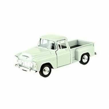 Modelauto chevrolet 1955 stepside wit 1:34
