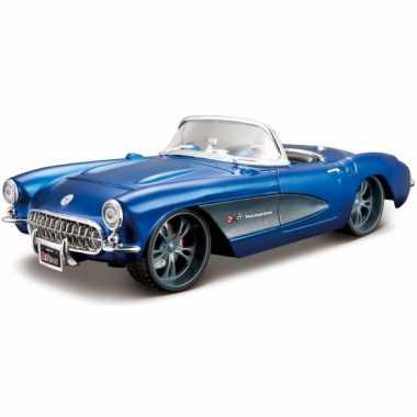 Modelauto chevrolet corvette cabrio 1957 1:24