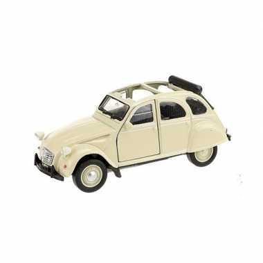 Modelauto citroen 2cv cabrio wit 1:36