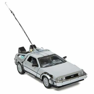 Modelauto delorean dmc back to the future 1:24