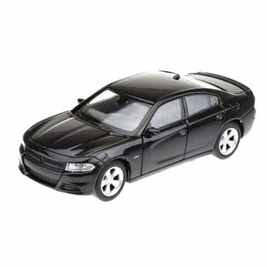 Modelauto dodge charger 2016 zwart 1 34