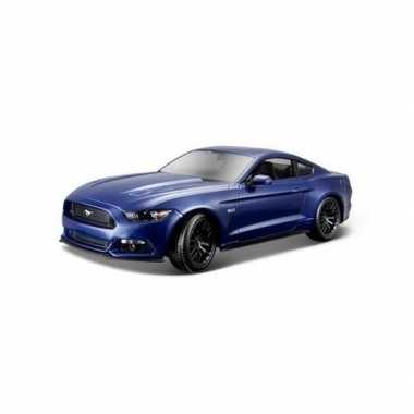 Modelauto ford 2015 mustang gt blauw 1:36