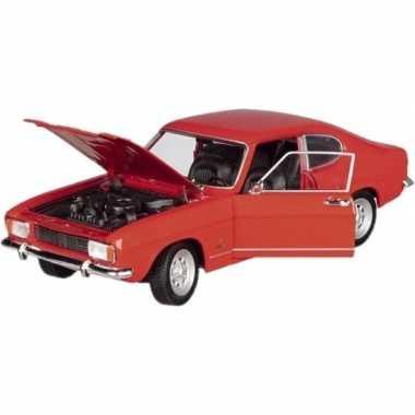 Modelauto ford capri 1969 rood 17,5 cm