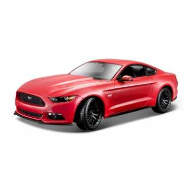Modelauto ford mustang gt 2015 rood schaal 1:18/26 x 10 x 7 cm
