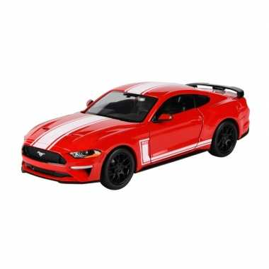 Modelauto ford mustang gt 2018 rood schaal 1:24/20 x 8 x 5 cm