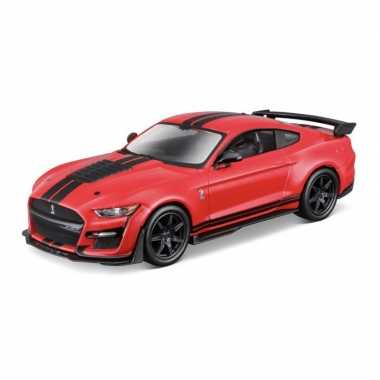 Modelauto ford shelby mustang gt500 2020 rood schaal 1:32/15 x 6 x 4 cm