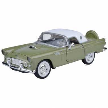 Modelauto ford thunderbird cabrio 1956 groen schaal 1:24/19 x 7 x 6 cm