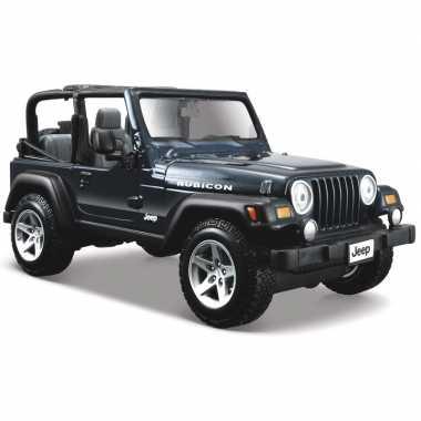 Modelauto jeep wrangler rubicon 1:24