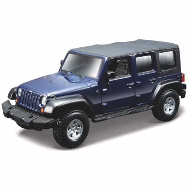 Modelauto jeep wrangler rubicon 1:32