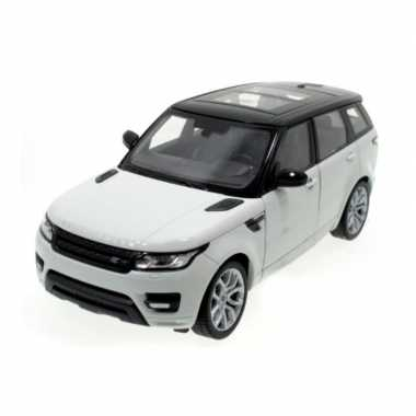 Modelauto land rover range rover sport 2014 wit schaal 1:24/20 x 8 x 7 cm