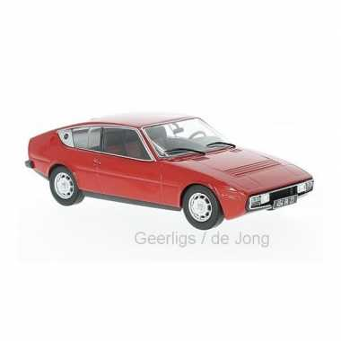 Modelauto matra simca bagheera 1974 rood schaal 1:24/16 x 7 x 5 cm