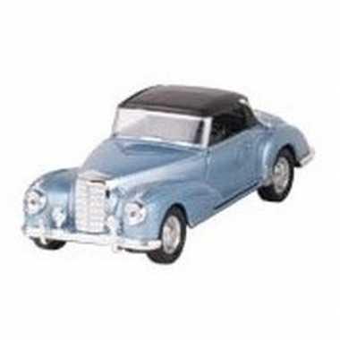 Modelauto mercedes-benz 300s auto blauw 11,6 cm