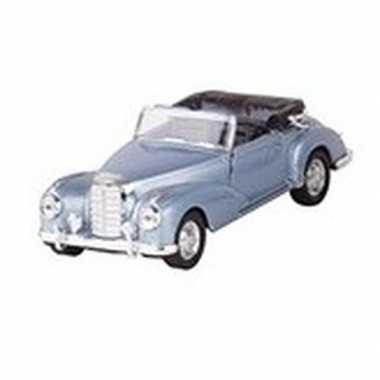 Modelauto mercedes-benz 300s cabrio blauw 11,6 cm