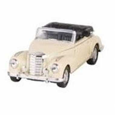 Modelauto mercedes-benz 300s cabrio creme 11,6 cm