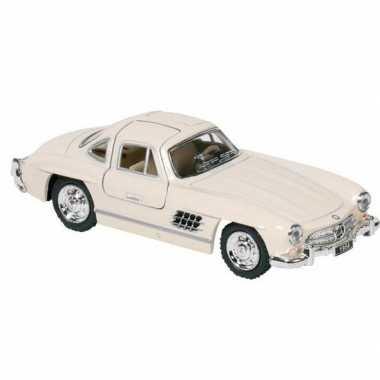 Modelauto mercedes-benz 300sl auto creme 12,8 cm