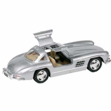 Modelauto mercedes-benz 300sl auto zilver 12,8 cm