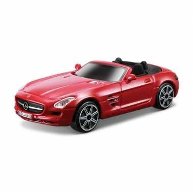 Modelauto mercedes-benz sls amg rood schaal 1:43/11 x 4 x 3 cm