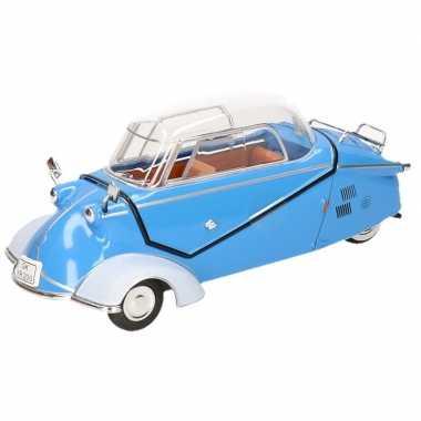 Modelauto messerschmitt kr200 blauw 16 cm