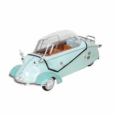 Modelauto messerschmitt kr200 mintgroen 16 cm
