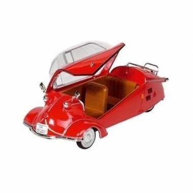 Modelauto messerschmitt kr200 rood 16 cm