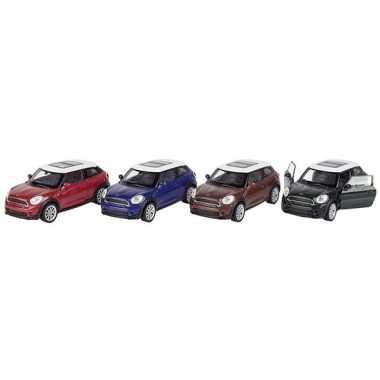 Modelauto mini cooper s paceman bruin 11 cm