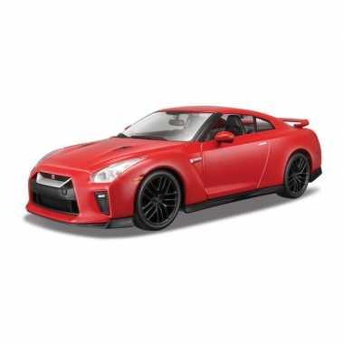 Modelauto nissan gt-r 2017 rood schaal 1:24/19 x 8 x 6 cm