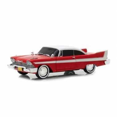Modelauto plymouth fury christine 1958 rood schaal 1:24/21 x 7 x 5 cm