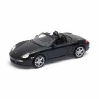 Modelauto porsche boxster s cabriolet 2012 zwart schaal 1:24/18 x 7 x 5 cm