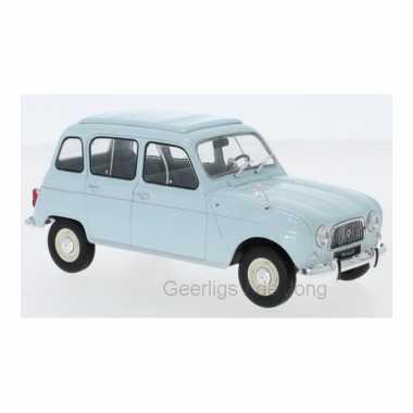 Modelauto renault 4 1965 blauw schaal 1:24/15 x 6 x 6 cm