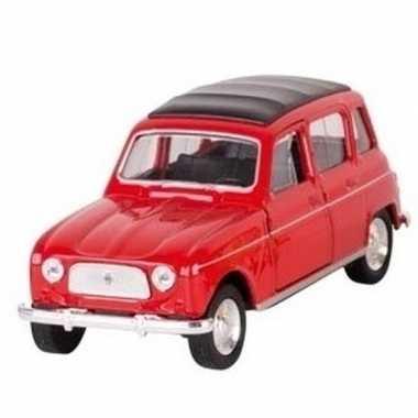 Modelauto renault 4 rood 11 cm