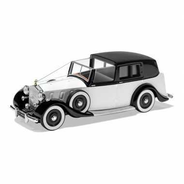 Modelauto rolls royce phantom iii 1937 trouwauto wit schaal 1:36/12 cm