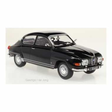 Modelauto saab 96 1970 zwart schaal 1:24/17 x 6 x 6 cm