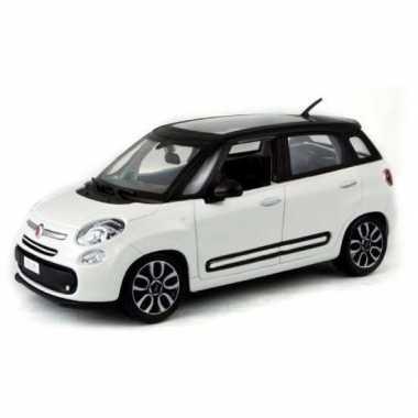 Modelauto speelgoedauto fiat 500 l 2013 wit 1:43