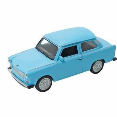 Modelauto trabant 601 blauw 11 cm
