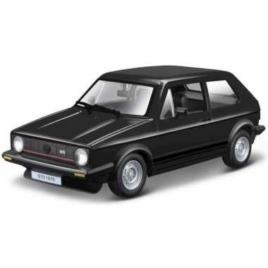 Modelauto volkswagen golf mk1 zwart 1:24
